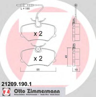 ZIMMERMANN 212091901 Комплект тормозных колодок, дисковый тормоз