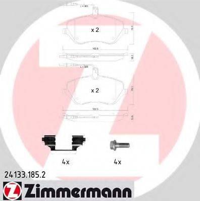 ZIMMERMANN 241331852 Комплект тормозных колодок, дисковый тормоз