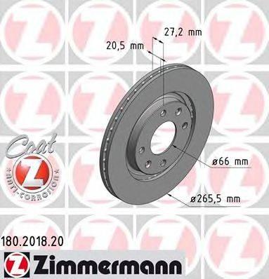 ZIMMERMANN 180201820 Тормозной диск