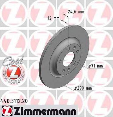 ZIMMERMANN 440311220 Тормозной диск