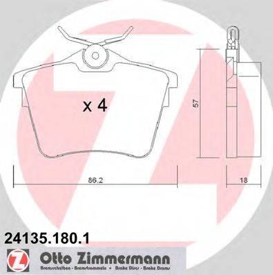 ZIMMERMANN 241351801 Комплект тормозных колодок, дисковый тормоз