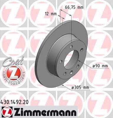 ZIMMERMANN 430149220 Тормозной диск
