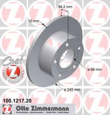 ZIMMERMANN 100121720 Тормозной диск