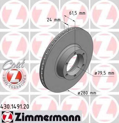 ZIMMERMANN 430149120 Тормозной диск