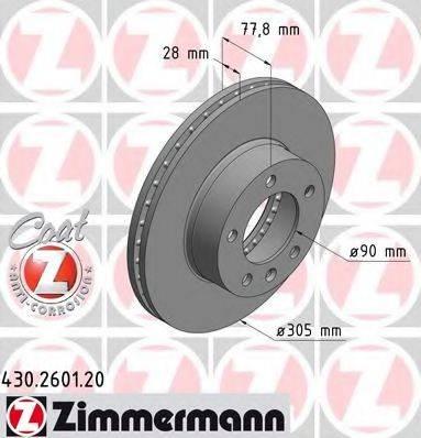 ZIMMERMANN 430260120 Тормозной диск