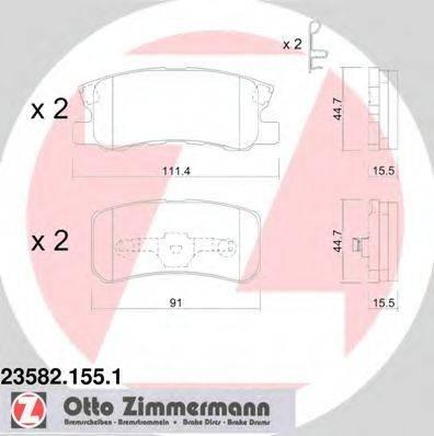 ZIMMERMANN 235821551 Комплект тормозных колодок, дисковый тормоз