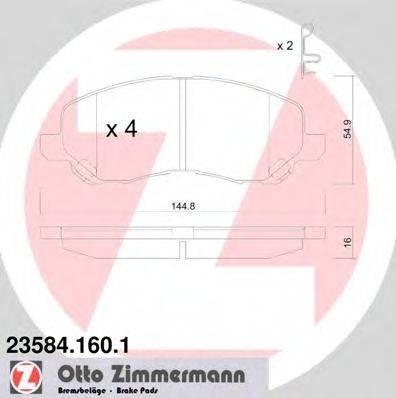ZIMMERMANN 235841601 Комплект тормозных колодок, дисковый тормоз