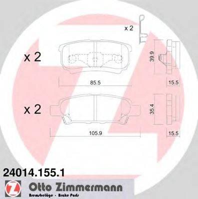 ZIMMERMANN 240141551 Комплект тормозных колодок, дисковый тормоз