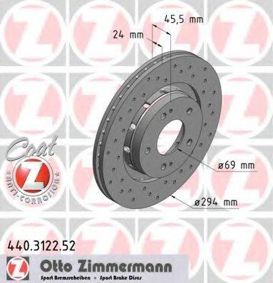ZIMMERMANN 440312252 Тормозной диск