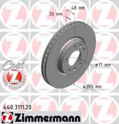 ZIMMERMANN 440311120 Тормозной диск
