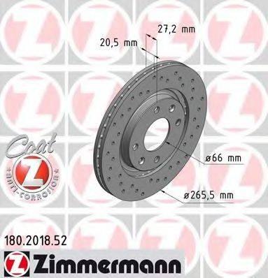 ZIMMERMANN 180201852 Тормозной диск