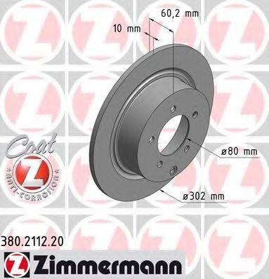 ZIMMERMANN 380211220 Тормозной диск