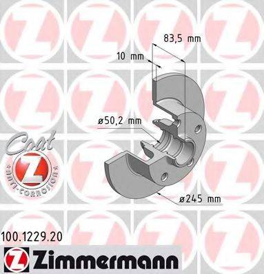 ZIMMERMANN 100122920 Тормозной диск