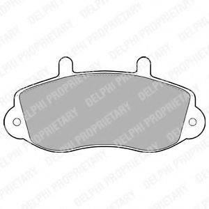 DELPHI LP1406 Комплект тормозных колодок, дисковый тормоз