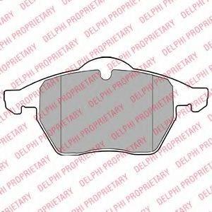 DELPHI LP1407 Комплект тормозных колодок, дисковый тормоз