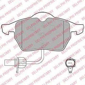 DELPHI LP1672 Комплект тормозных колодок, дисковый тормоз
