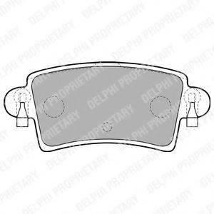 DELPHI LP1747 Комплект тормозных колодок, дисковый тормоз