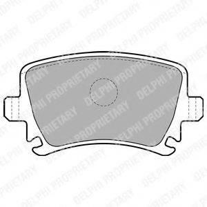 DELPHI LP1824 Комплект тормозных колодок, дисковый тормоз