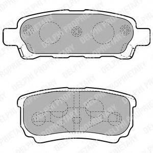 DELPHI LP1852 Комплект тормозных колодок, дисковый тормоз