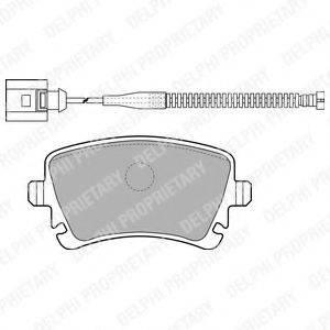 DELPHI LP1860 Комплект тормозных колодок, дисковый тормоз