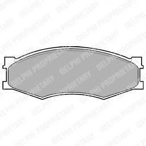DELPHI LP358 Комплект тормозных колодок, дисковый тормоз