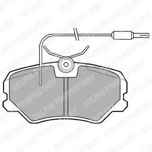 DELPHI LP564 Комплект тормозных колодок, дисковый тормоз