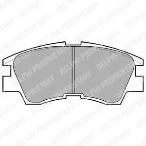 DELPHI LP633 Комплект тормозных колодок, дисковый тормоз