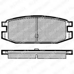 DELPHI LP641 Комплект тормозных колодок, дисковый тормоз