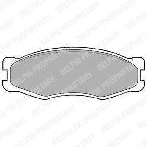 DELPHI LP707 Комплект тормозных колодок, дисковый тормоз