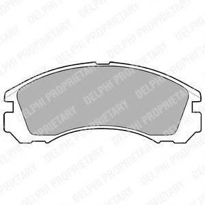DELPHI LP871 Комплект тормозных колодок, дисковый тормоз