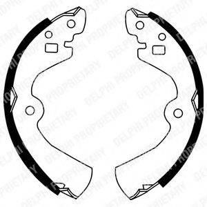 DELPHI LS1494 Комплект тормозных колодок