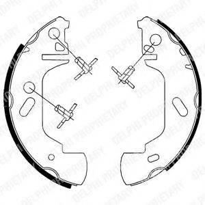 DELPHI LS1701 Комплект тормозных колодок