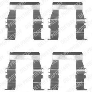 DELPHI LX0171 Комплектующие, колодки дискового тормоза
