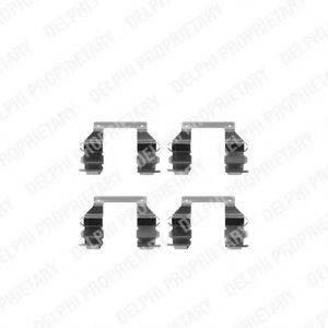 DELPHI LX0200 Комплектующие, колодки дискового тормоза