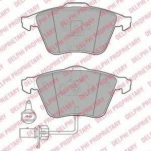 DELPHI LP1922 Комплект тормозных колодок, дисковый тормоз