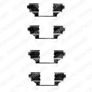 DELPHI LX0403 Комплектующие, колодки дискового тормоза