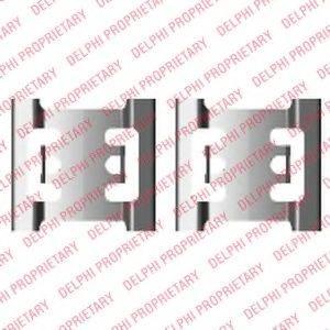 DELPHI LX0428 Комплектующие, колодки дискового тормоза