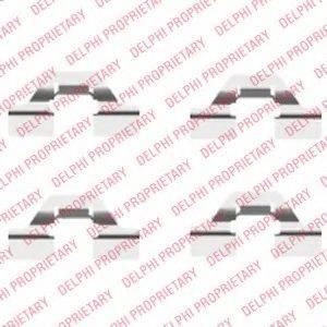 DELPHI LX0430 Комплектующие, колодки дискового тормоза