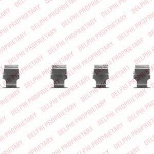 DELPHI LX0468 Комплектующие, колодки дискового тормоза