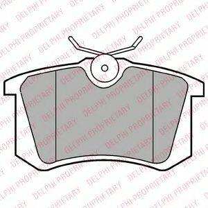 DELPHI LP2255 Комплект тормозных колодок, дисковый тормоз