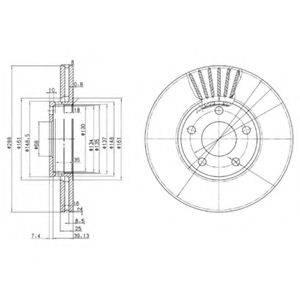 DELPHI BG2745 Тормозной диск