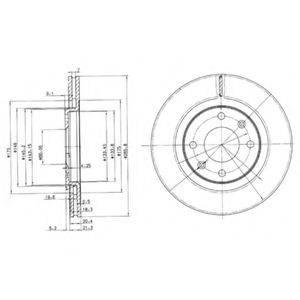 DELPHI BG2387 Тормозной диск