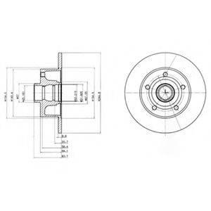 DELPHI BG3030 Тормозной диск
