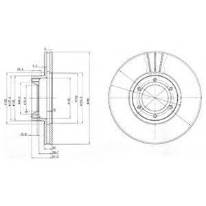 DELPHI BG3553 Тормозной диск