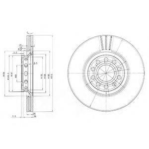DELPHI BG3657 Тормозной диск