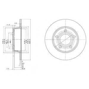 DELPHI BG3672 Тормозной диск