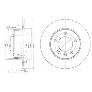 DELPHI BG3681 Тормозной диск