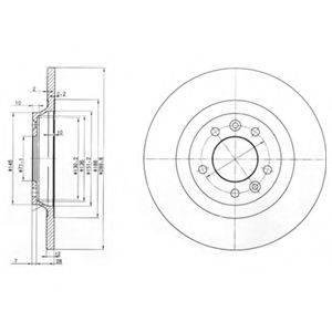 DELPHI BG3836 Тормозной диск