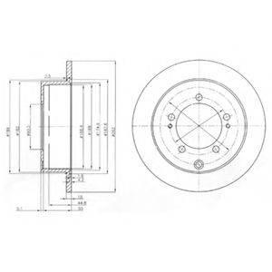 DELPHI BG4037 Тормозной диск