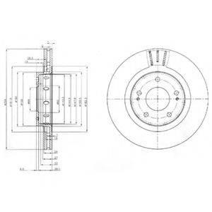 DELPHI BG4038 Тормозной диск